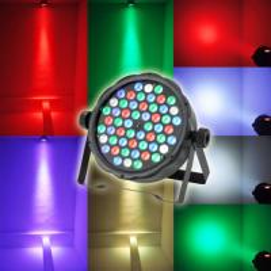Wholesale New 54pcs*3W RGBW Plastic Material LED Par Light Stage Light Disco Par Light Cans  W-100-|| from china suppliers