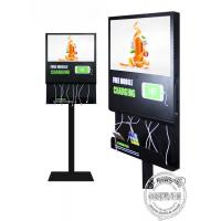 Buy cheap Floor Standing Mobile Phone Charging Station Advertising Display For Airport / Restaurant / Bar from wholesalers