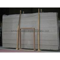 Wholesale Polished White Wood Vein Marble Stone Slab/ Tile from china suppliers