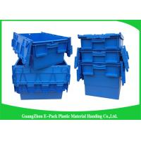 Quality Recyclable 60L Plastic Attached Lid Containers Blue Customized For Agriculture for sale