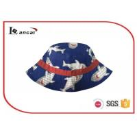 Wholesale Boys shark custom multi printed bucket hat 52cm with cotton fabric for boys from china suppliers