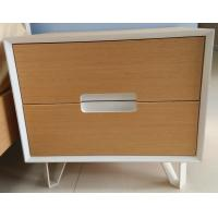 Sturdy storage wood cabinets, 2 drawers and stable steel supporting legs