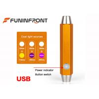 Wholesale Dual Light Sources USB Direct Charge Inside with Li-ion Battery Gem Flashlight from china suppliers