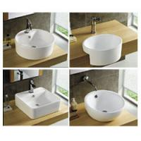 Wholesale basin with wall hung mounted single hole faucet hole hotel furniture from china suppliers