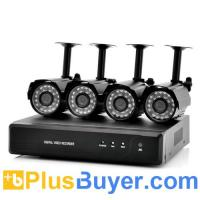 Wholesale Spookfish - 4 Channel Outdoor DVR Surveillance Kit (4 Cameras, H.264, 420TVL) from china suppliers