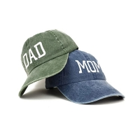 Wholesale OEM Blue Denim Fabric Dad'S Cap For Husband Wife from china suppliers