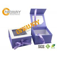 Wholesale Printed Packaging Boxes , Custom Print Plastic Pillow Box Packing With Transparent Window from china suppliers