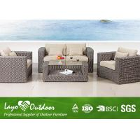 Wholesale Water - Repellent Patio Outdoor Furniture 1+ 2 + 1 Rattan Sofa Set With Pillow from china suppliers