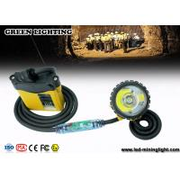 Buy cheap 25000 Lux Brightest IP68 Waterproof Mining Cap Lights With Warning Red Light on Cable from wholesalers
