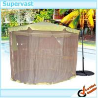 Wholesale Large Square Offset Patio Umbrella with Netting , Outdoor Tent Umbrella with Mosquito Netting from china suppliers