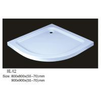 Wholesale Acrylic shower tray, shower basin,acrylic shower base HDP-42 800X800X(55-70),900X900X(55-7 from china suppliers
