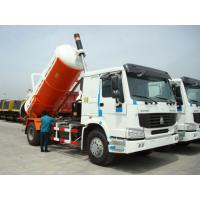 Quality Howo 6x4 23m³ Sewage Vacuum Truck 266HP - 420HP With Air Conditioner for sale