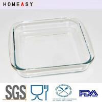 Wholesale Deep Borosilicate Pyrex 9 x 9 Glass Baking Dish Heat Resistance Durable from china suppliers