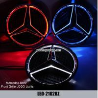 Wholesale mercedes benz logo lights up C class C180L C200L C260L Front Grille logo LED Light from china suppliers