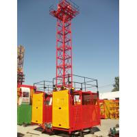 Wholesale 1 - 2 Ton Twin / Single Cage Industry Building Material Hoist by Manual Control SS100/100 from china suppliers