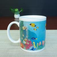 Quality Blue Patch Ocean Custom Magic Mug With AB Grade White Ceramic for sale