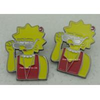 Wholesale Die Struck Hard Enamel Pins , Brass Material Gold Plating Nurse Badge from china suppliers