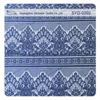 Wholesale Easy Cleaning Navy Nylon Garment Lace Fabric Scalloped Lace Eyelash Fabric from china suppliers