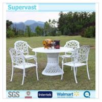Wholesale White Cast Aluminum Patio Furniture Set , Patio Furniture Table And Chairs from china suppliers