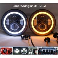 Wholesale Hi-Lo Beam Projector LED Fog Headlight H4 Socket for Jeep Wrangler JK TJ LJ from china suppliers