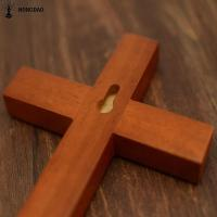 Wholesale Customized Color Hand Held Handmade Wooden Crosses With Hanger , Sample Free from china suppliers