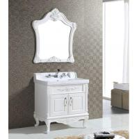 Wholesale 80 X 52 / cm antique white bathroom vanity , plastic bathroom mirror cabinet ISO2000 Standard from china suppliers