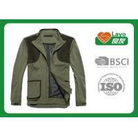 Wholesale Olive Color Ladies Hunting Clothing , Mens Full Zip Jacket With Hood from china suppliers