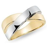 Wholesale 14K White and Yellow Gold Ring from china suppliers