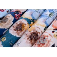 Wholesale Home Furniture Beautiful Velboa Fabric , Multi - Colored Floral Upholstery Fabric from china suppliers