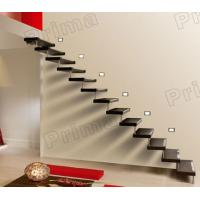 Quality Floating Solid Wood Straight Stairs for sale