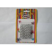 Wholesale Novelty Craft  Silver Birthday Candles , Spiral Column Metallic Silver Votive Candles from china suppliers