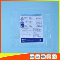 Reclosable Plastic Ziplock Pill Bags Self Seal , Clear Resealable Poly Bags for sale