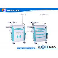 Wholesale Mobile Medical Trolley For Hospital Newly Matched With CPR Board , Oxygen Cylinder Holder from china suppliers