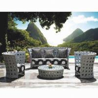 Wholesale Outdoor Wicker Sofa Sets for Hotel/Lobby/Garden Use, w/ Aluminum Frame, UV Resistance, Rat from china suppliers