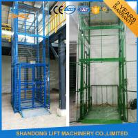 Wholesale 1.5 ton 7.5m Guide Rail Electric Hydraulic Warehouse Elevator Lift for Cargo Lifting from china suppliers