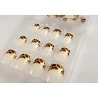 Wholesale Gold Glitter French Manicure Fake Nails For fingers , short fake nails from china suppliers