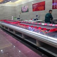 Wholesale Open Fresh Meat Chiller Self Serve Display Counter Refrigerated Case for Supermarket from china suppliers