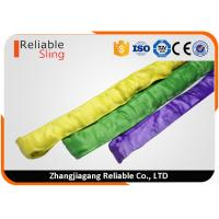 Wholesale Synthetic Polyester Round Webbing Slings , Crane Lifting Slings with CE Approved from china suppliers