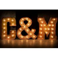 Wholesale Waterproof Rustic LED Large Metal Letters With Lights Illuminated 21 Inch for Holiday from china suppliers