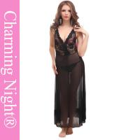 Wholesale Backless Sexy Long Lingerie For Mature Women And Young Girls , long black nightie from china suppliers
