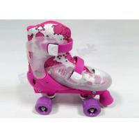 Wholesale Hard Shell Four Wheel Outdoor Quad Roller Skates Adjustable Pink Girls Skating Equipment from china suppliers