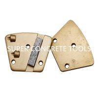 Wholesale 2 PCDs Trapezoid Coating Removal Plate With Support Diamond Bar For Floor Preparation from china suppliers
