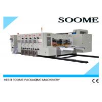 China 4 Colors Flexo Printer Slotter Die Cutter Rotary Water Based Printing With Glazer Dryer on sale