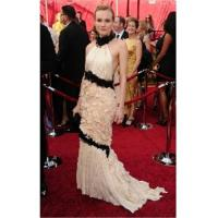 Wholesale Diane Kruger Trumpet / Mermaid Halter Sweep / Brush Train Sleeveless Chiffon Oscar/ Evening Dress from china suppliers
