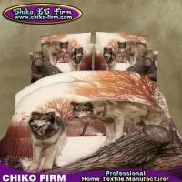 Wholesale Home Textile Wolf Design Queen Size Polyester 3D Printing Bedding Sets from china suppliers