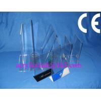 Wholesale Acrylic table stand menu holder, PMMA card holder menu stand for hotel supplies from china suppliers