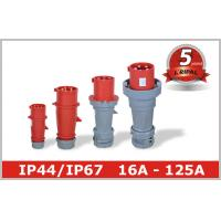 Wholesale 400V 3 Phase Pin and Sleeve Industrial Plug 16A 32A 63A 125A Industrial Socket from china suppliers
