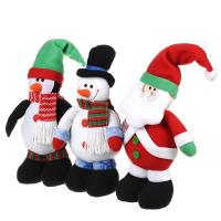 Wholesale Cute Christmas Stuffed Santa Doll Snowman Plush Toy for Children from china suppliers