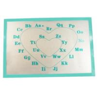 Wholesale Printed letter Fiber non-stick silicone baking mat from china suppliers
