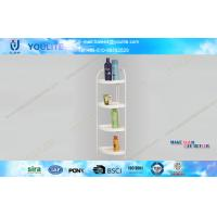 Wholesale Easy Install White Modern Bathroom Corner Shelves with Plastic Trays , Storage Shelf from china suppliers